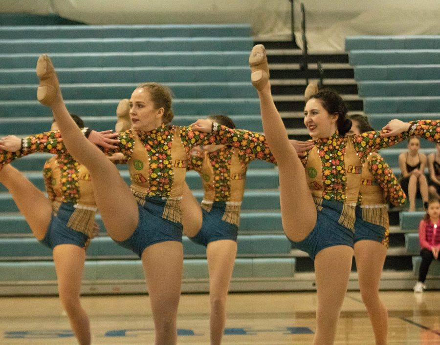 The Varsity Kick team performs during the showcase