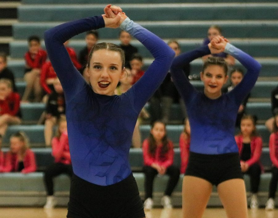 The B-Squad Jazz team performs at the show