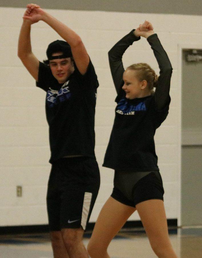 Matt Williams and Julia Dallenbach perform the boy-girl dance