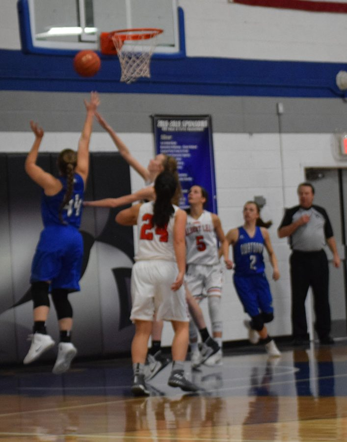 Julia Hansen goes up for the layup