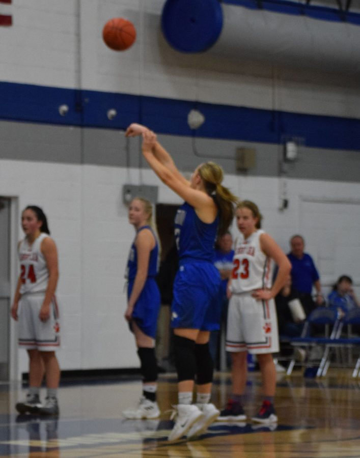 McKenna Schroht shoots a free throw