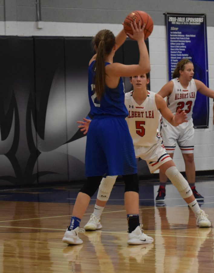Maggie Newhouse looks for a pass