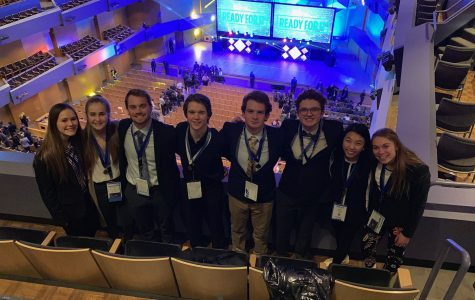 DECA members that received a medal at the preliminary awards