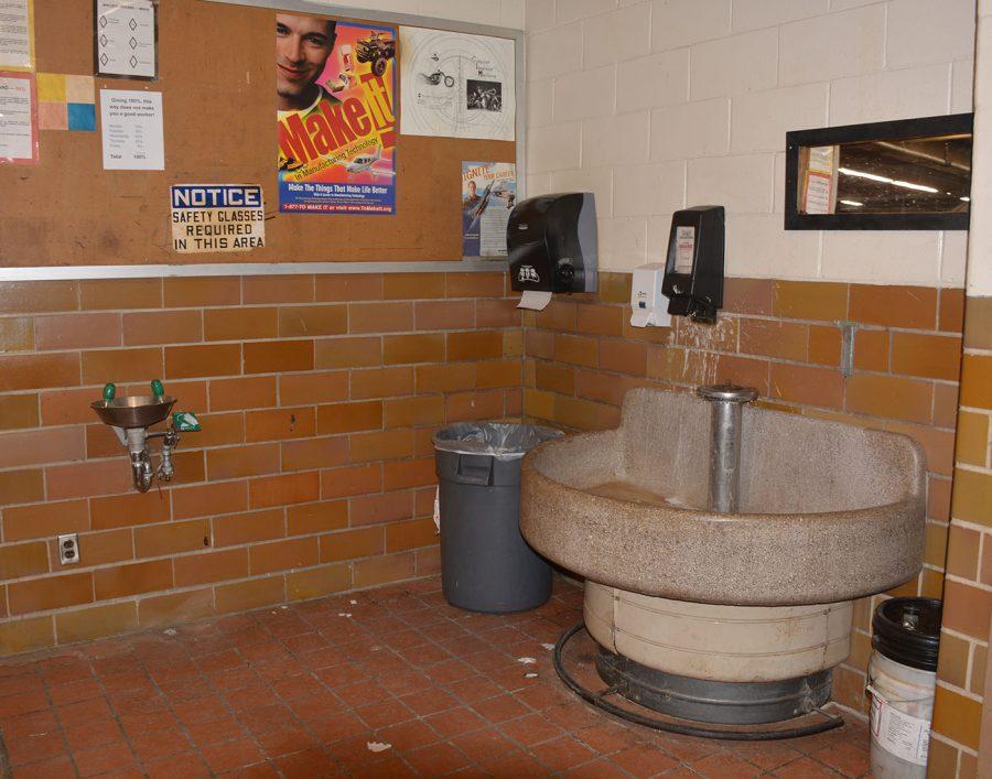 Sink in Industrial tech room