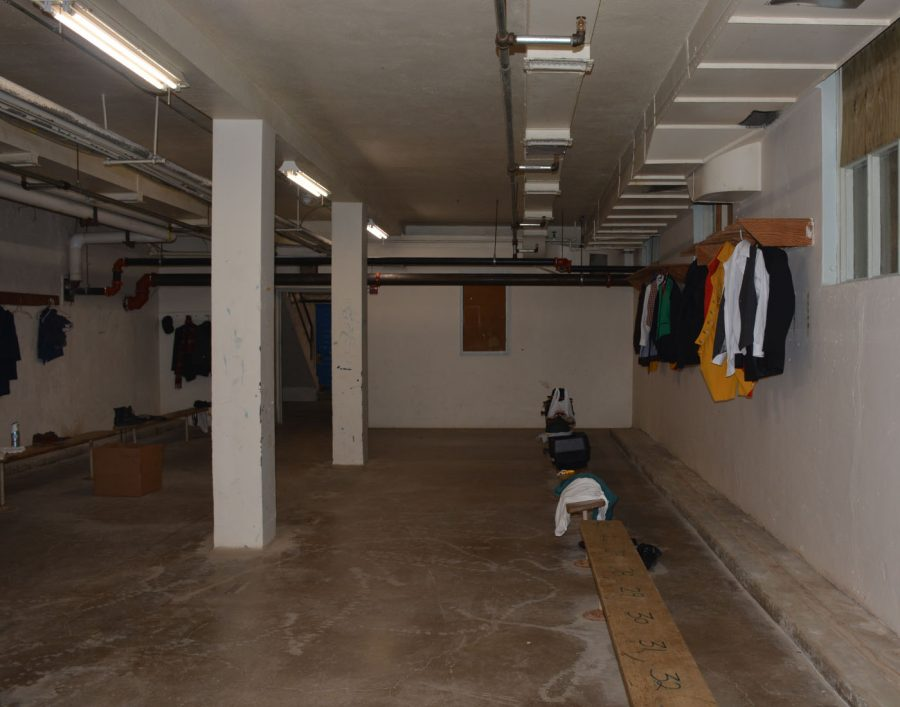 Theatre storage room in the basement