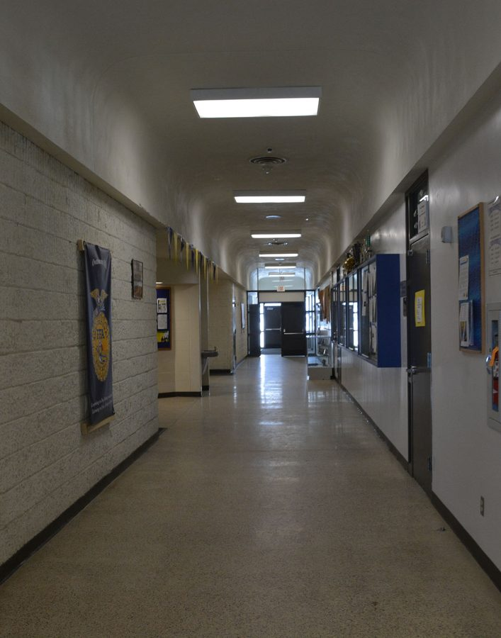 Ag building is a separate building from the main high school requires students and staff to go outside to get to class, even during inclement weather