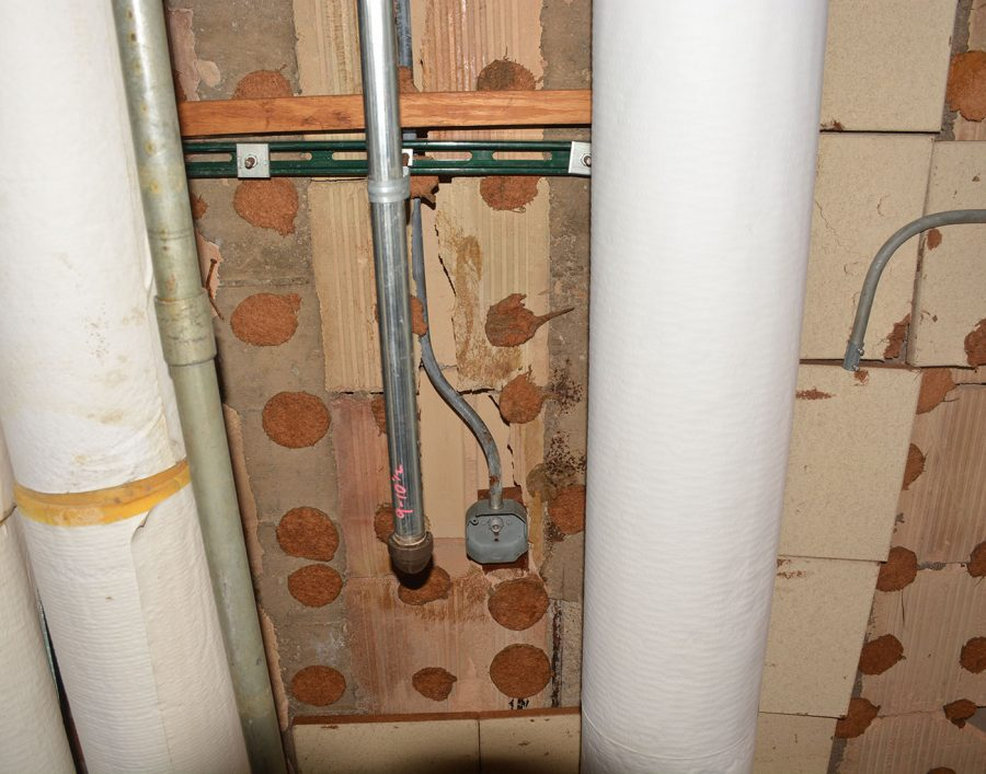 Ceiling pipes are old
