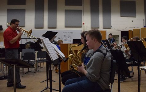 Jazz band practices during academic support