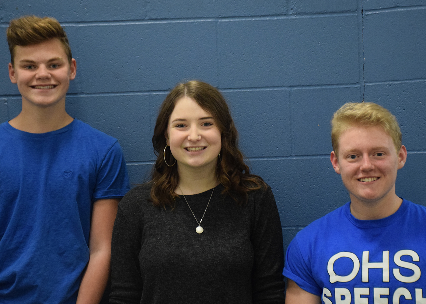 Jackson Hemann, Carolyn Stauffer, and Liam Miller all qualified for the State speech tournament. They will compete on Saturday.