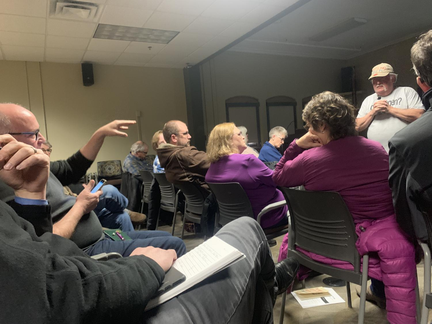 COPE (Concerned Owatonnans for Public Education) meeting discussing reasons for to vote against the upcoming referendum