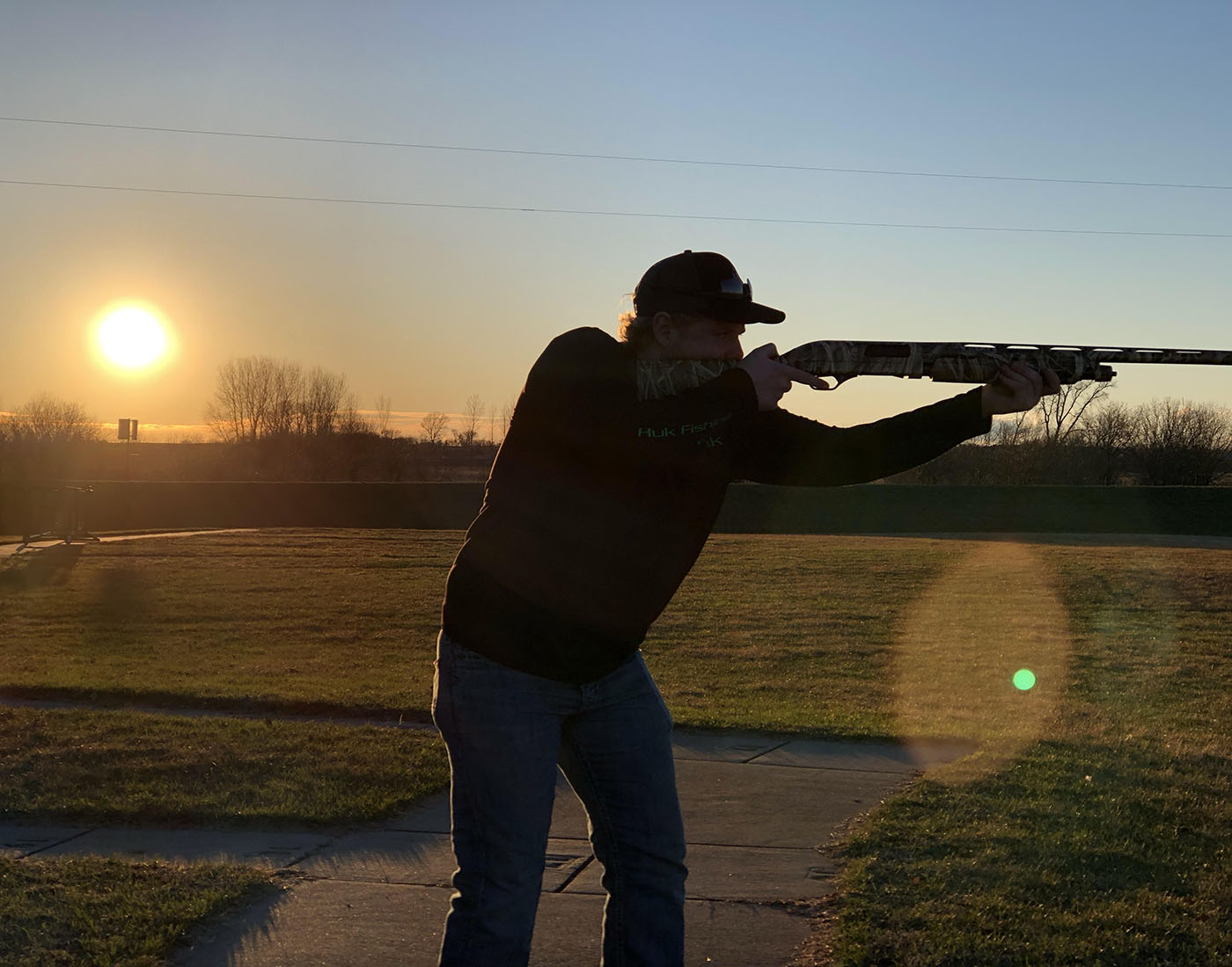 Besides football and lacrosse, Joe Edel is also a captain for the Owatonna Trapshooting Club