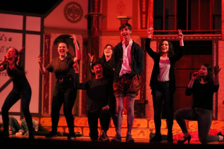The whole cast performs a short song at the end of Romeo and Juliet