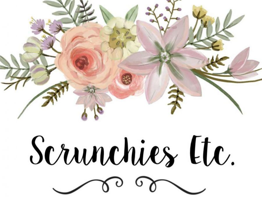 Scrunchies Etc business logo created by Kaitlyn Madole and Ruth Livingston for their company Scrunchies Etc.