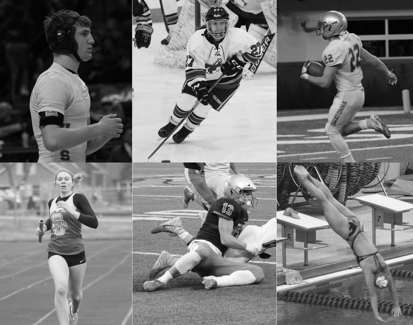 The six finalists for senior athlete of the year
