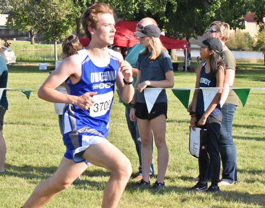 Senior Joey Brueggemeier making strides towards the finish line