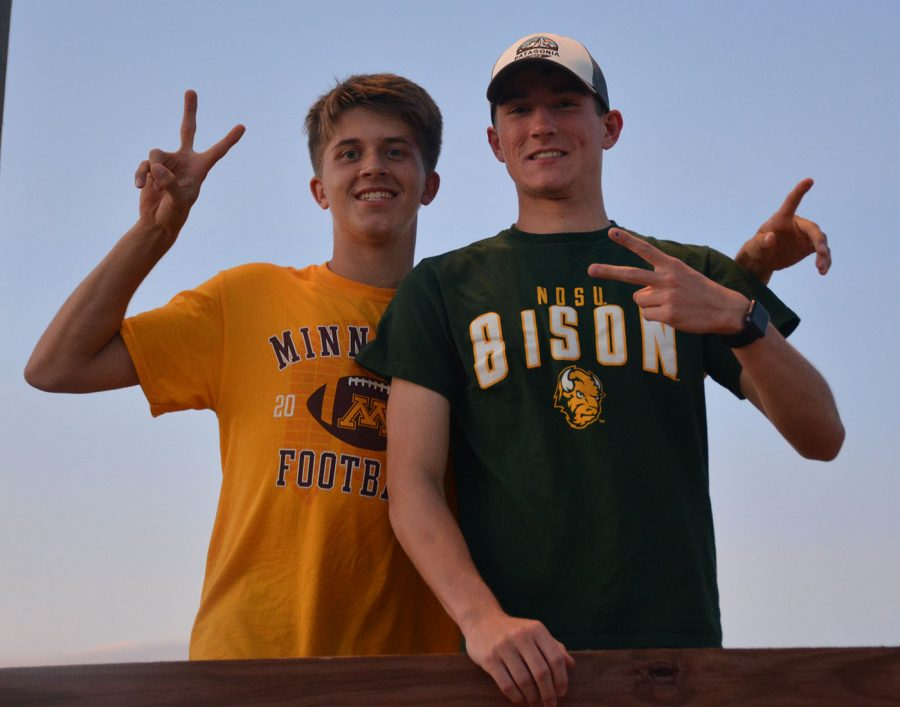 Seniors Leo Gantert and Nick Mullenbach enjoying the homecoming festivity