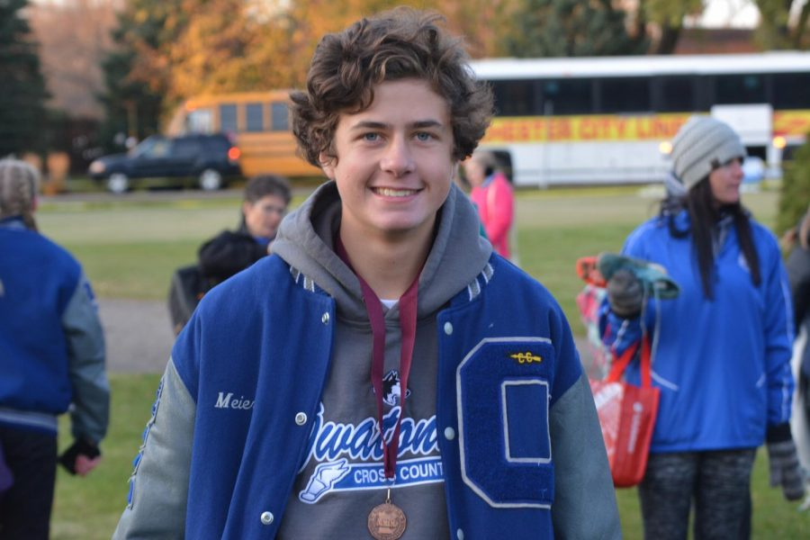 Preston Meier will be competing in the boys State Cross Country meet
