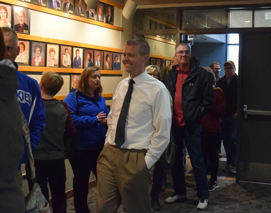 The line for the Vote Yes rally went out the door for hours