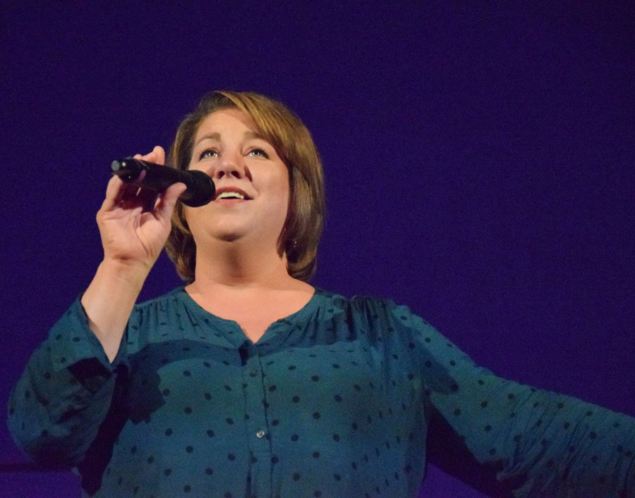 Owatonna community member Rebecca Somers singing The Street Where You Live from My Fair Lady
