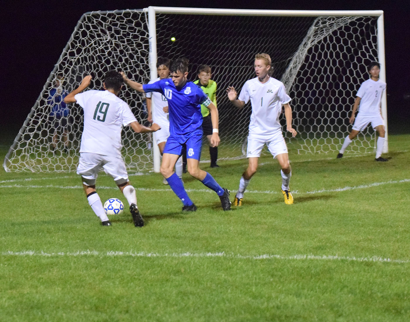 First team All-State winner, Sam Henson playing defense against Rochester Mayo.