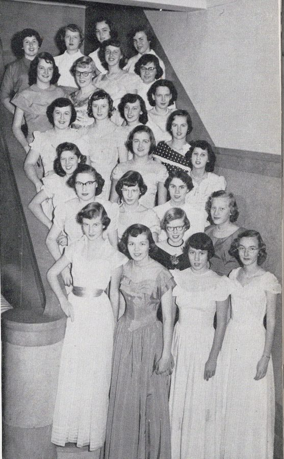 Now and Then: 1951 girls ushers club