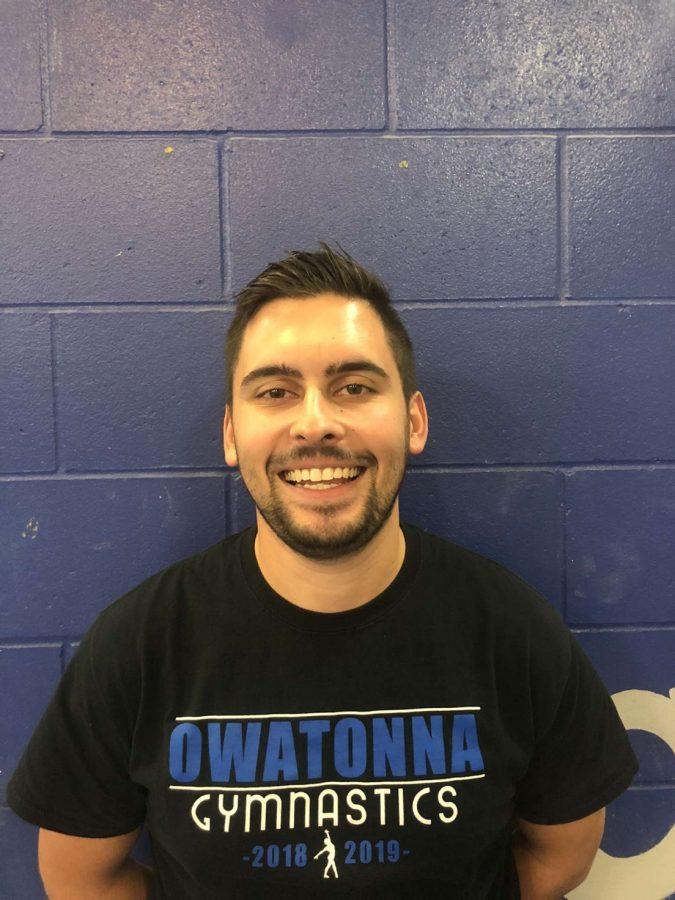 Owatonna's new gymnastics Coach Evan Moe