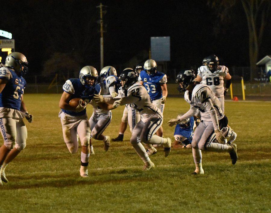 Zach Stransky breaking through the defensive line
