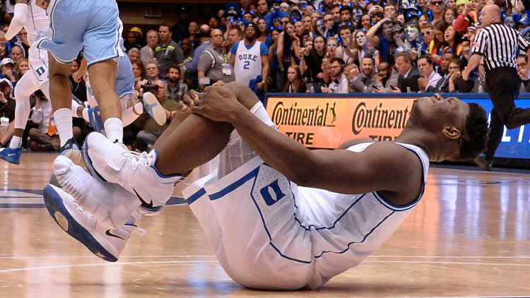 Zion Williamson, one of these most expolosive plaeyrs college basketball has ever seen, injures his during 2019 season. Source: businessinsider.com