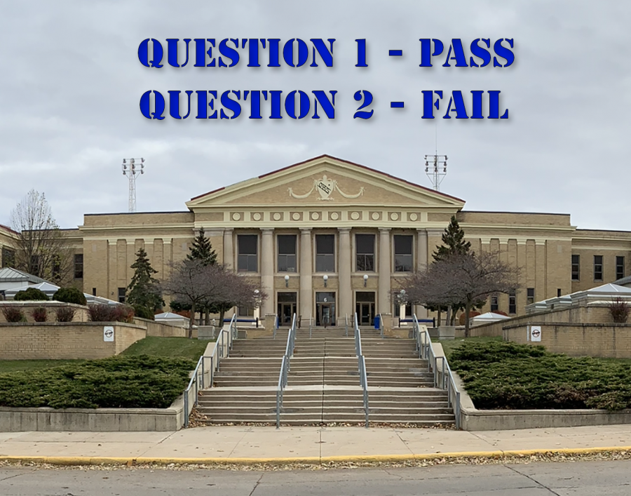 The results on the bond referendum were question one passing for a new high school, but question two failing
