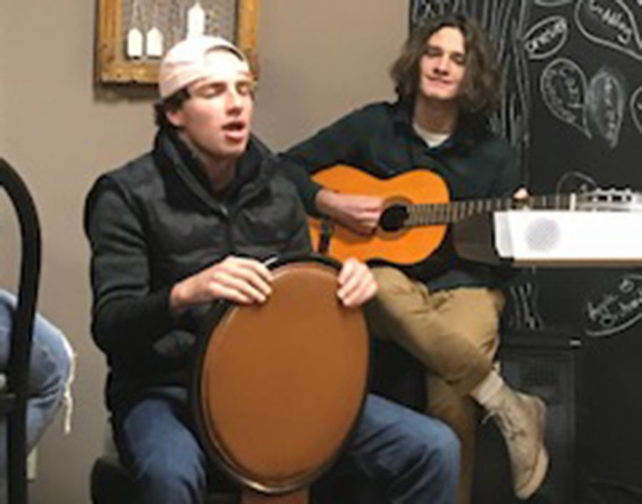 Juniors Jonny Wall and Dom Nelson performing