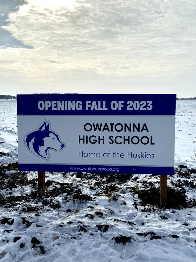 Signage recognizing the future home of the OHS