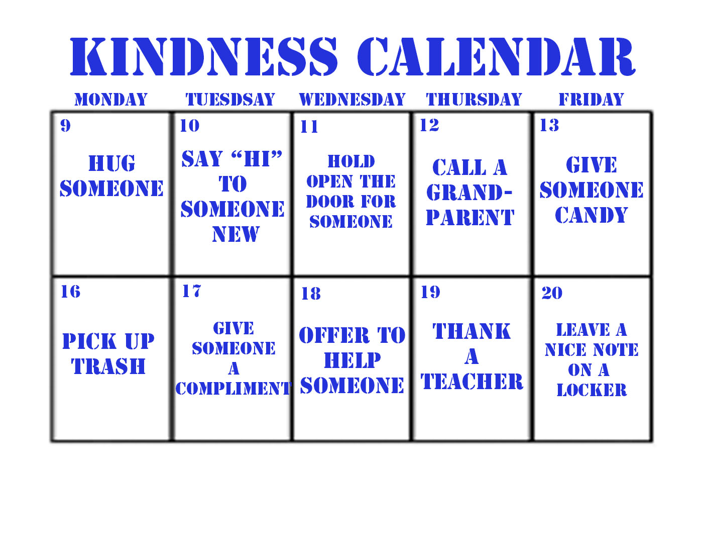 OHS Magnet is hoping that the community can spread a little kindness during the month of December