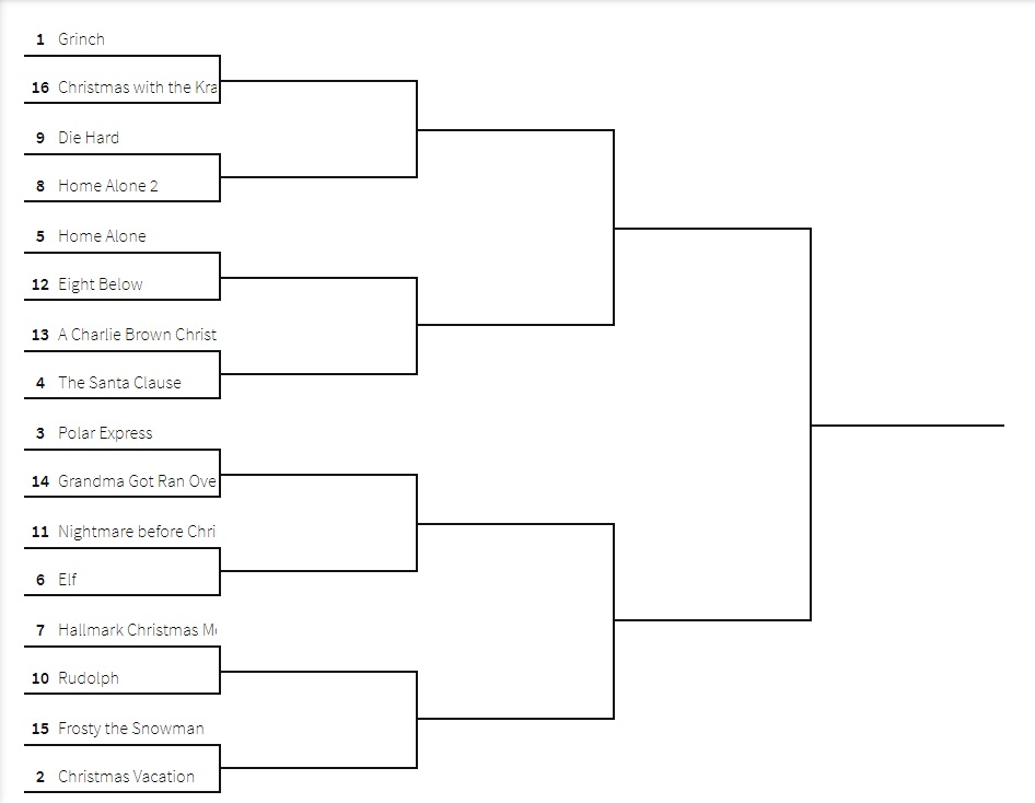OHS is doing a movie bracket. Voting will start next week