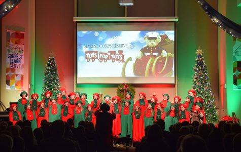OHS Carolers preforming at the Toys for Tots concert.