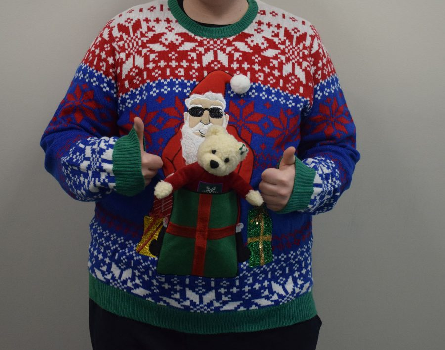 Students get to proudly show off their ugly sweaters