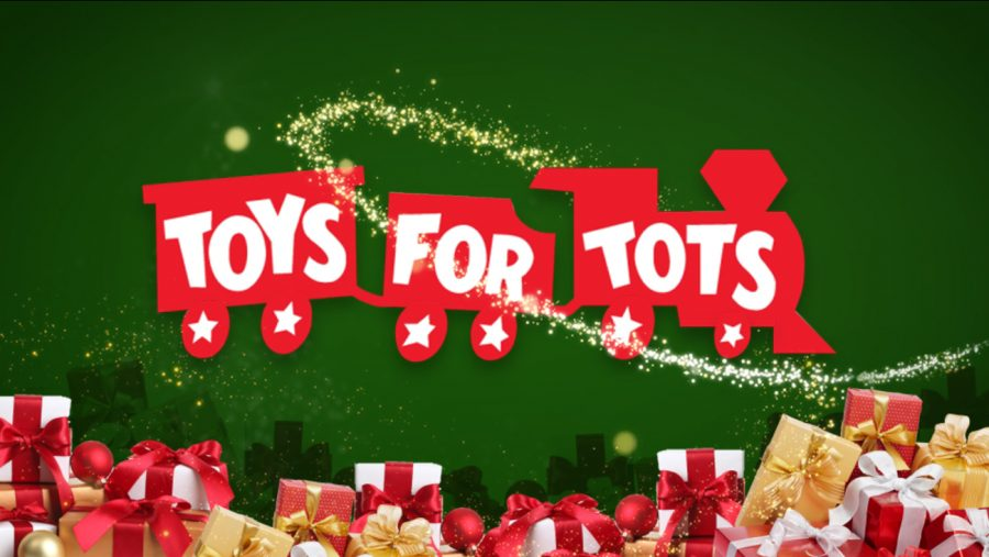 Toys for Tots logo. This is the foundation OHS student counsel chose for cash drive.
