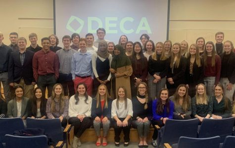 The DECA team of OHS gathers together after DECA regionals.