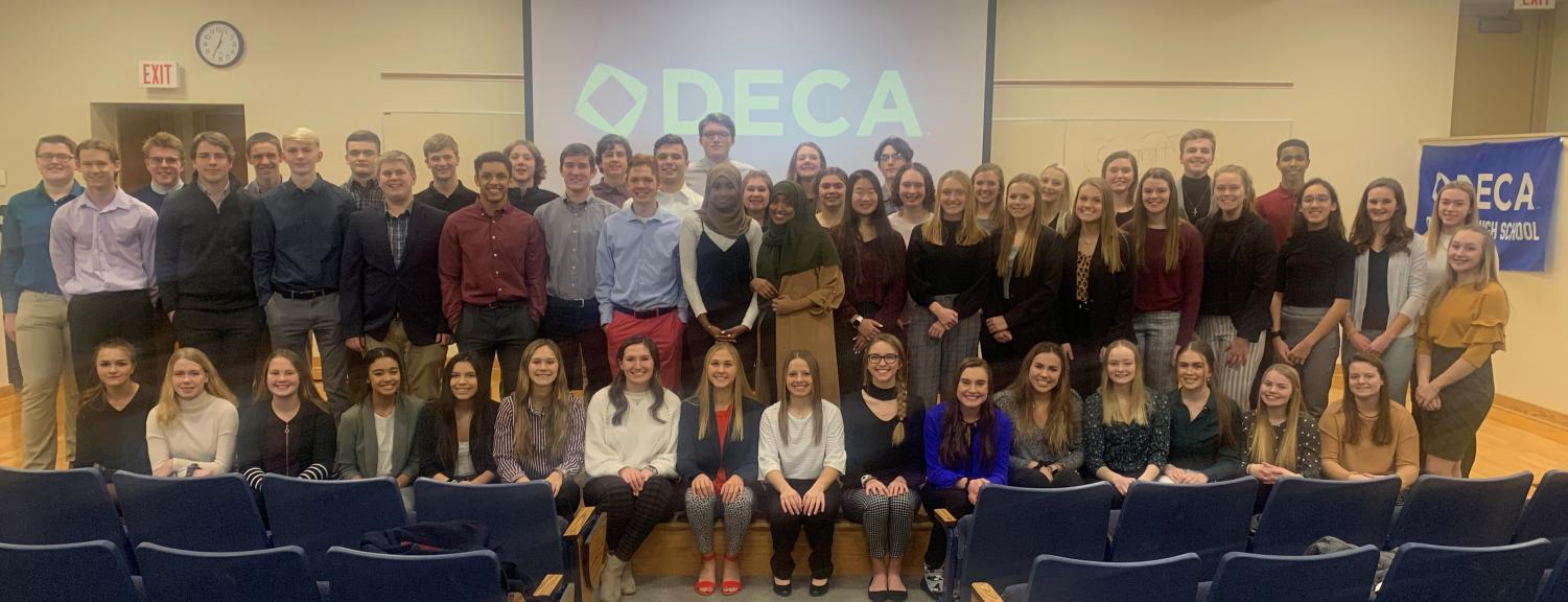 The DECA team of OHS.