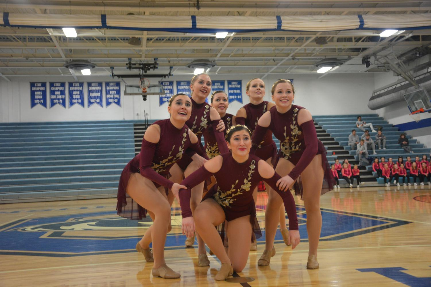 Dance team preforming at the community show.