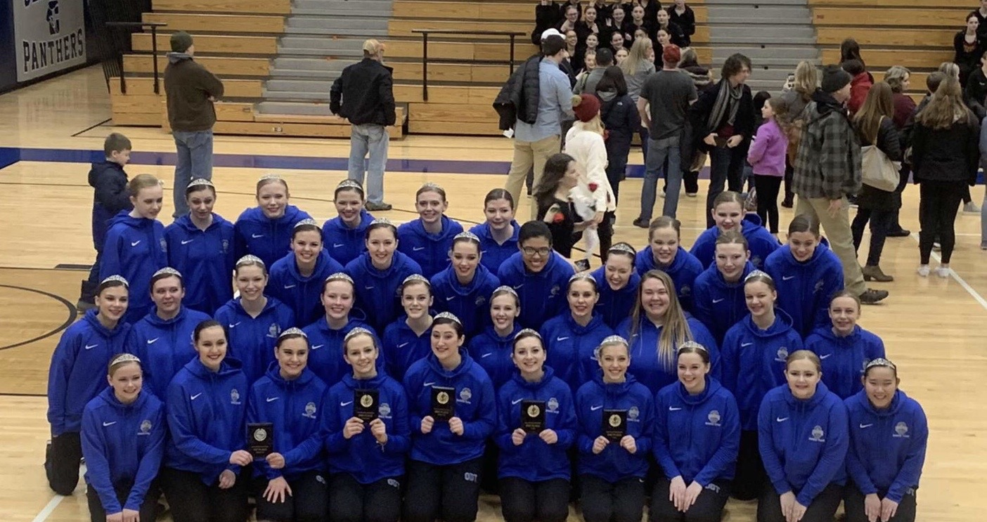 Owatonna Dance team taking second place at the Rochester Century invitational