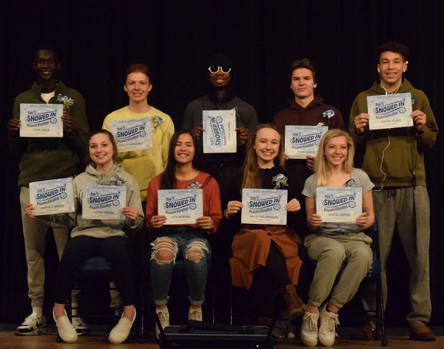 Top Row: Fanta Omot, Phillip Koslosky, Korey Adams, Tyler Harris, Keenan Young Bottom Row: Adrien Breuer, Asia Buryska, Kayla Mollenhauer, Whitni Minton.  Not Pictured: Gabriela Breuer.