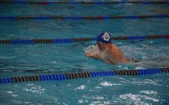 Fletcher Schultz swimming the breaststroke.