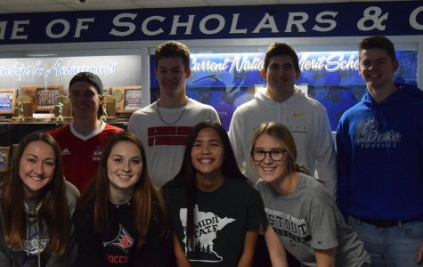 OHS 2020 collegiate athletes signing letter of intent