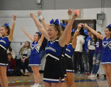 Cheerleader Emily Larson during Friday