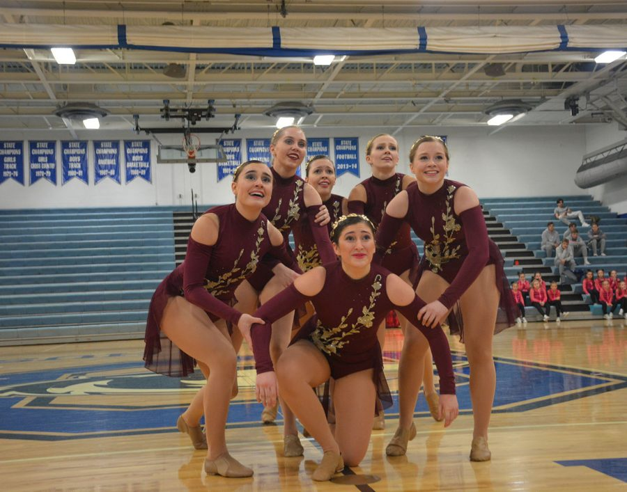 Varsity jazz at the end of their dance