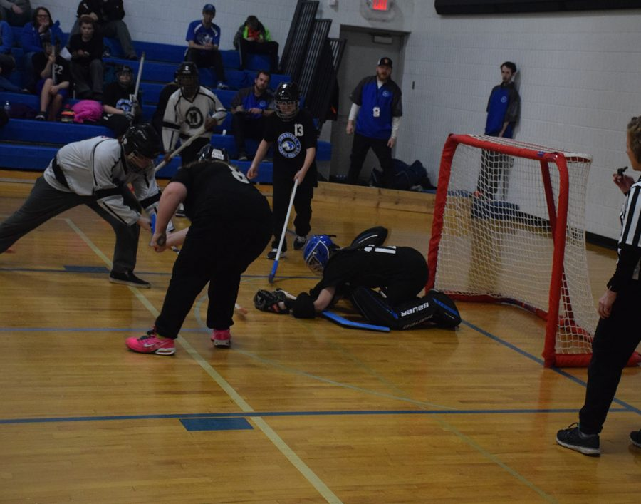 The+OHS+goalie+making+a+save