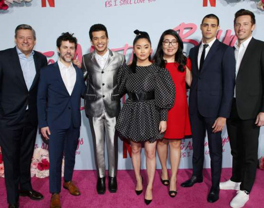 P.S I Still Love You premiere with main characters Jordan Fisher, Lana Condor, and Noah Centineo Source;Heavy.com