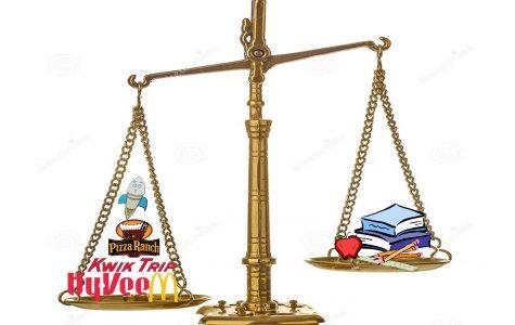 Balancing between work and school