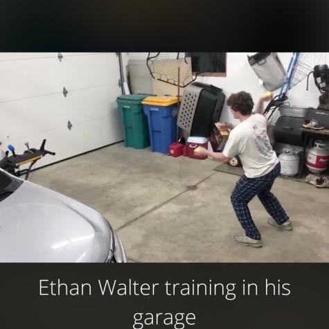 Athletes still training