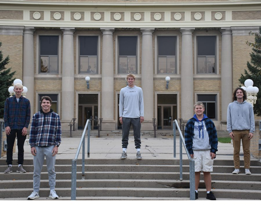 Top 5 King Candidates Top: Payton Beyer Middle: Lane Versteeg and Dominic Nelson Front: Jonny Wall and Ashton Jensen
